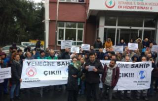 sağlık çalışanlarından yemek protestosu