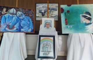 100 ressam sağlık çalışanları için çizdi /...