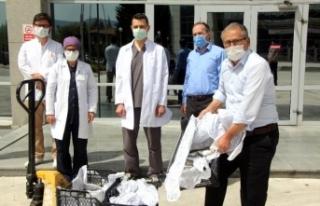 Sağlık çalışanları için hastaneye 200 alabalık...