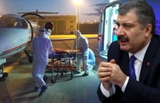 Türk hasta ambulans uçakla Türkiye'ye getirildi