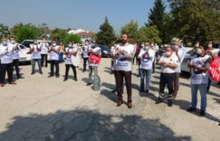 Bursa'da sağlık çalışanları alkışları...