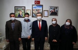 Bakan KOCA, Afrin Şehidi Sağlıkçıyı Unutmadı
