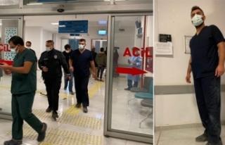 Filyasyon ekibindeki doktora saldırı