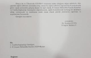 Antalya'da Sağlık Çalışanları Esnek Mesaiye...
