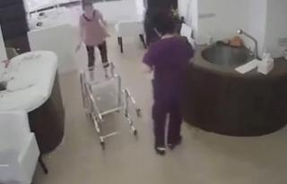 Çin'de bir hemşire, pusetteki bebeği yere...