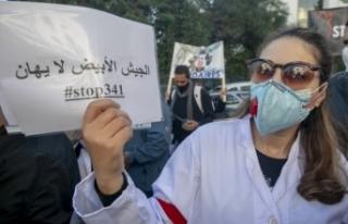 Tunus'ta doktorlar genel greve gitti