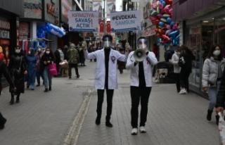 Samsun'da tıp fakültesi öğrencileri sokağa...
