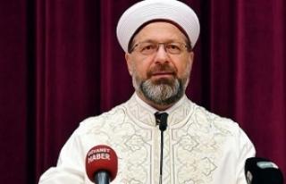 Ali Erbaş: Kapanma sürecinde camilerimiz açık...