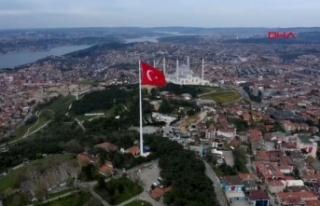 Erdoğan 'Dünyanın en büyük Türk bayrağını'...