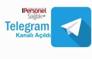 Personel Sağlık NET Telegram Hesabı Açıldı