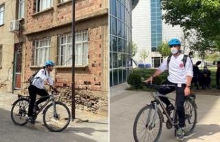 'Bisikletli doktor' dendiğinde Ödemiş'te...