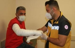 Konya'da saldırıya uğrayan ambulans şoförü...