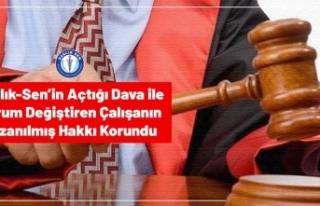 Mahkeme Sağlık Çalışanının Kazanılmış Hakkını...