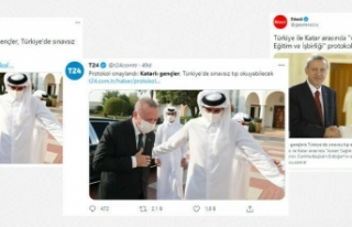 """Açıklama, """"Katarlıların Tıp Fakültelerine..."""