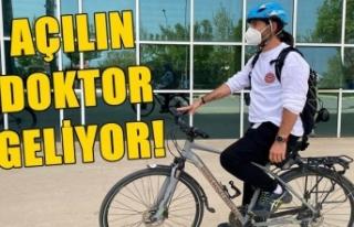 Hastalarına bisikletle gitmeye başladı, 50 kilo...