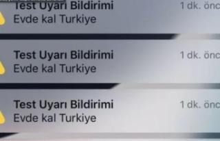 'Evde Kal Türkiye' bildirimi için ilk...