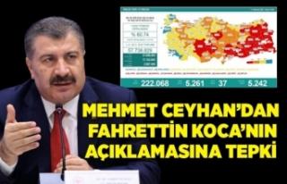 Mehmet Ceyhan'dan Bakan Koca'nın açıklamasına...