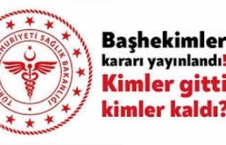 Samsun'da Başhekim Atamaları Yapıldı