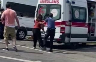 Sinir krizi geçiren kadın, polis ve sağlık ekiplerine...