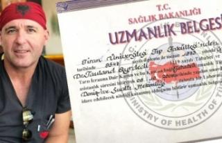 Tıp diplomasında Arnavutluk ismi olan doktor açığa...