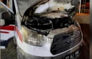 Arıza Yapan Ambulans Yandı