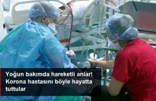 Bozulan Cihazı Elleriyle Çalıştırarak Hastayı...