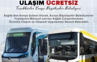 Konya'da Sağlık Çalışanlarına Ücretsiz...