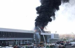 Medipol Hastanesi İnşaatında Yangın
