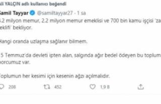 Şamil Tayyar: Memur ve işçi için kesenin ağzı...