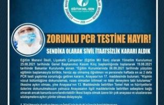 Sendikadan : Zorunlu PCR testine karşı 'sivil...