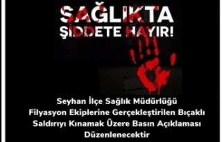 Sağlıkçılara Yapılan Bıçaklı Saldırı Protesto...