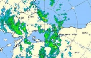 Meteoroloji radar görüntüsünü paylaştı! Kuvvetli...