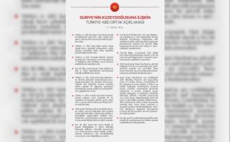 13 maddede Türkiye ile ABD arasındaki anlaşmanın detayları