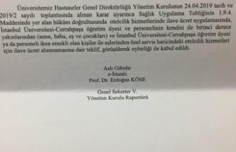 """Türk Sağlık Sen Müracaat Etti """"Otelcilik Hizmetleri ücreti Alınmayacak"""""""