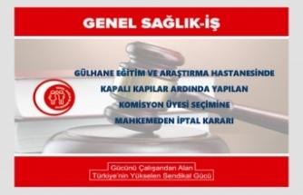Döner Sermaye  Komisyon Üyesi Seçimine Mahkemeden İptal Kararı