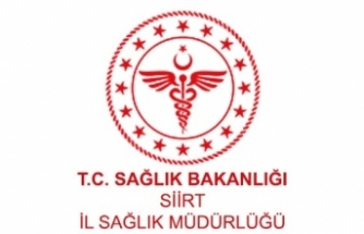 Siirt İl Sağlık Müdürlüğünden Basın Açıklaması