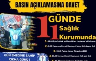Adana Sağlık SEN'den Döner Sermaye Eylemleri