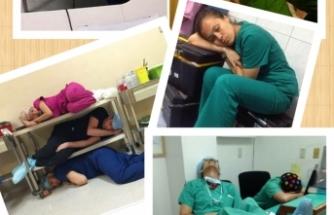 Sağlık Personeli umutları cebinde nöbetten nöbete gidiyor