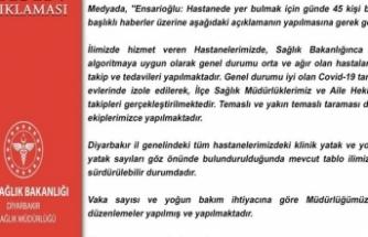 Diyarbakır İl Sağlık Müdürlüğü, iddiaları yalanladı