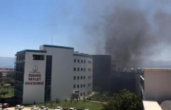 Ödemiş Devlet Hastanesinde yangın çıktı