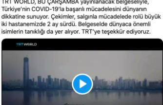 Sağlık Bakanı Koca'dan TRT'ye teşekkür