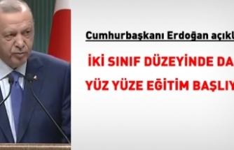 Erdoğan: Ortaokul 5 ve lise 9'larda yüz yüze eğitime başlıyoruz
