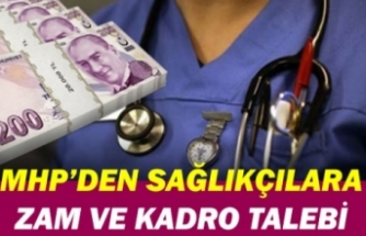 MHP sözleşmeli sağlıkçılara kadro ve maaş zammını Meclise taşıdı
