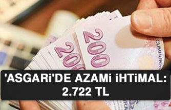 Asgari'de azami ihtimal: 2.722 TL