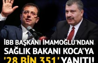 İmamoğlu'ndan Fahrettin Koca'ya yanıt