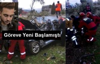 Genç Sağlıkçı Kazada Hayatını Kaybetti / Foto Haber