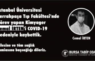 Sağlık Çalışanı Cemal İRTEN'i COVID-19 nedeniyle kaybetti