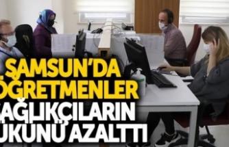 Samsun'da öğretmenler sağlıkçıların yükünü azalttı