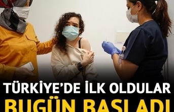 Aşı Sağlıkçılardan Sonra İlk Defa gönüllü vatandaşa yapıldı