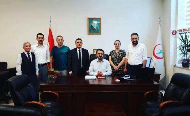 Türk Sağlık-Sen Karabük Şubesi  Karabük Eğitim ve Araştırma Hastanesi Başhekimine Hayırlı Olsun Ziyareti